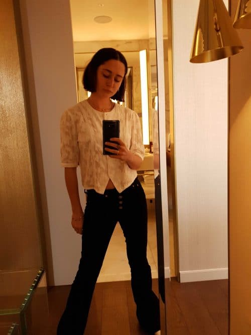 White Shirt Black Pants Style